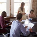 entrepreneur in meeting to build profitable business