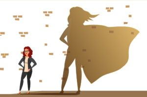 women business leaders as superwoman